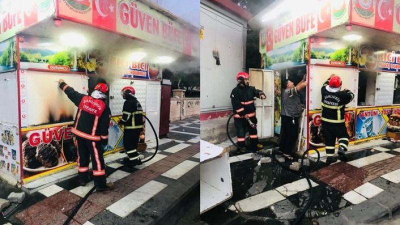 Şanlıurfa'da bir büfede yangın çıktı