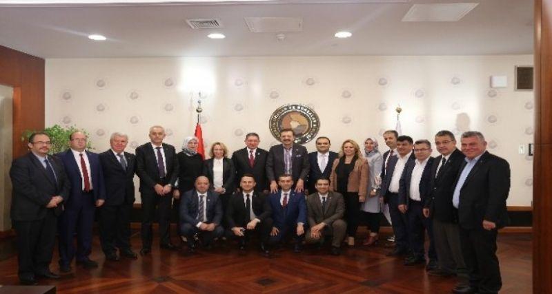 Nazilli Ticaret Odası'ndan TOBB Başkanı Hisarcıklıoğlu'na ziyaret