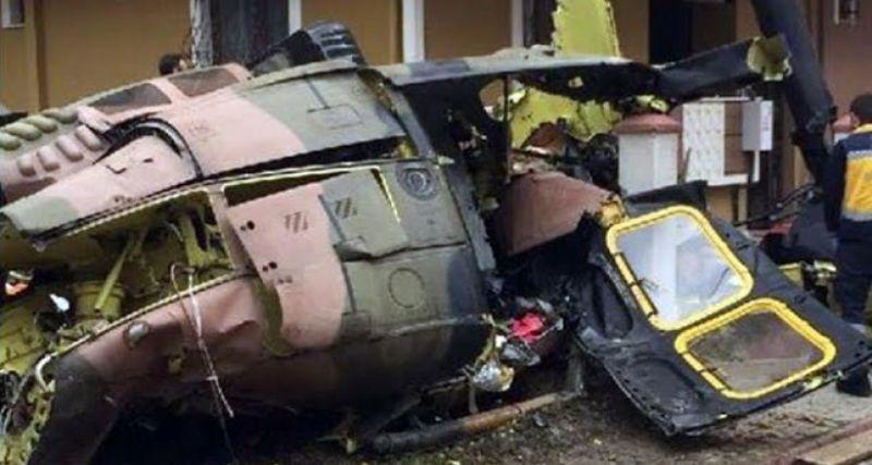 Sancaktepe'de helikopter düştü! 4 asker şehit, 1 asker yaralı