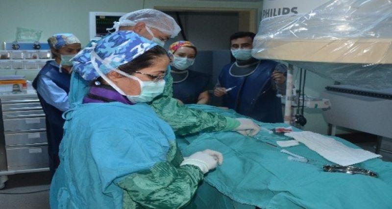 Aydın'da ilk defa çocuklarda transkaterer yolla kalp deliği kapama işlemi gerçekleşti