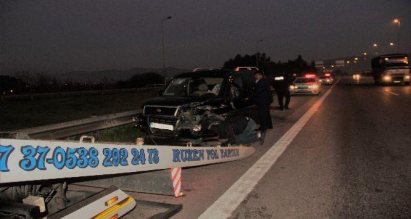 Otobanda tersten seyreden sürücü kazaya neden oldu
