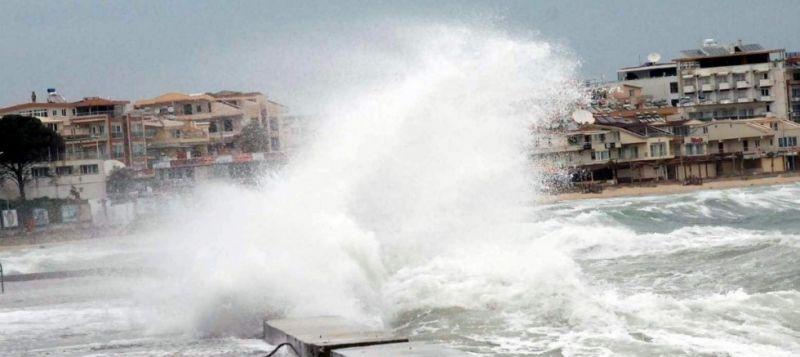 Kıyı Ege'de fırtına bekleniyor