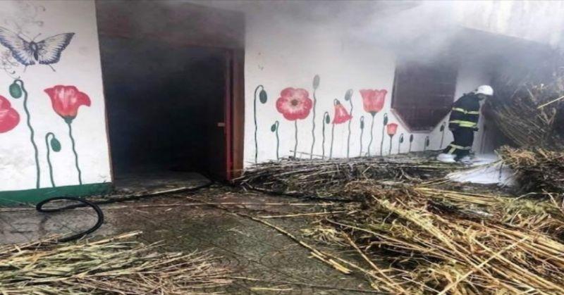Aydın'daki yangında Roman Derneği'nin binası hasar gördü