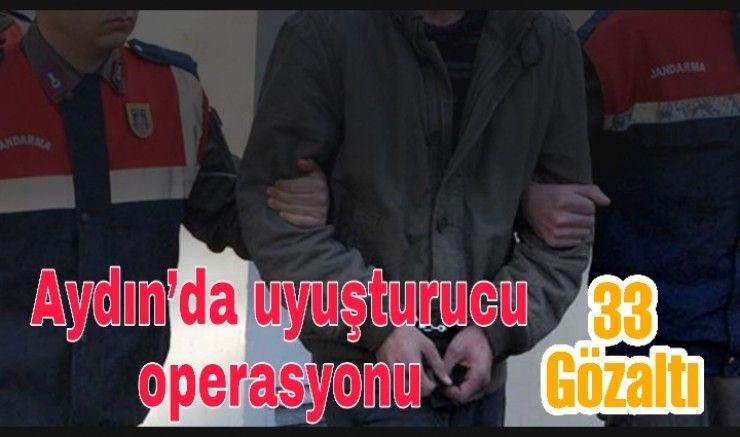 Aydın merkezli 4 ilde uyuşturucu tacirlerine drone ve helikopter destekli operasyon: 33 gözaltı