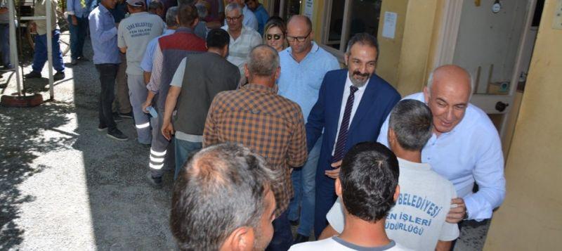 Başkan Tuncel'den belediye işçilerine çifte bayram