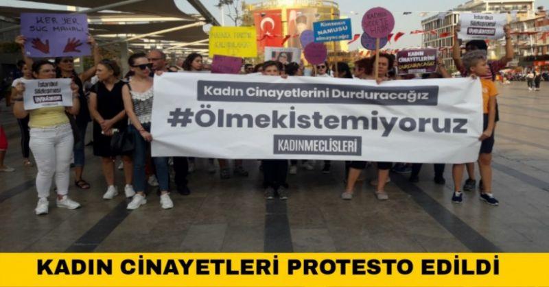 AYDINLI KADINLAR KADIN CİNAYETLERİNİ PROTESTO ETTİ