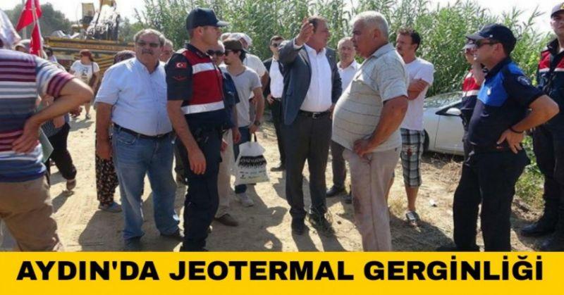 JEOTERMAL FİRMASININ İZİNSİZ ÇALIŞMASINA  KÖYLÜLER ENGEL OLDU