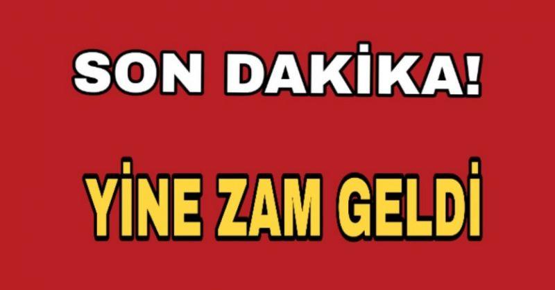 DOĞALGAZA ZAM GELDİ