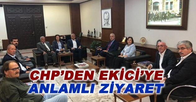 CHP'DEN EMNİYET MÜDÜRÜ EKİCİ'YE ZİYARET
