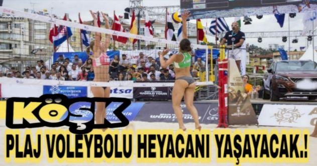 AKP'Lİ BAŞKAN İSTEDİ BAŞKAN ÇERÇİOĞLU KIRMADI...  KÖŞK'TE PLAJ VOLEYBOLU DÜZENLENECEK