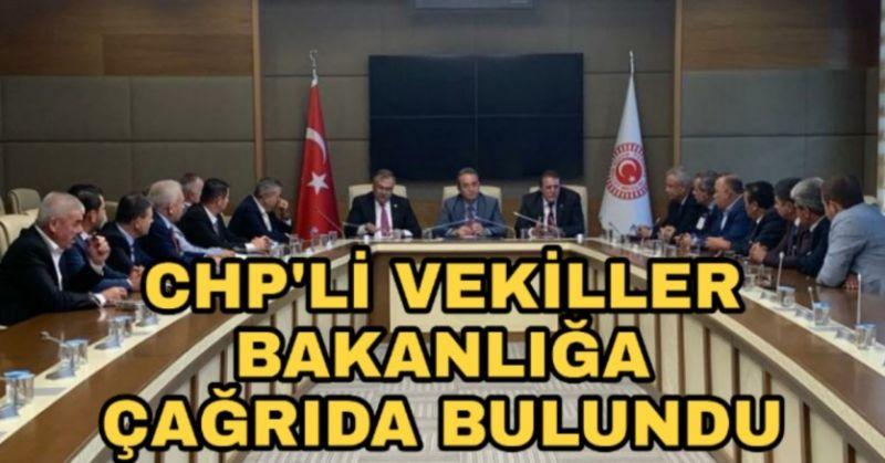 CHP'Lİ VEKİLLERDEN ACİL MÜDAHALE ÇAĞRISI
