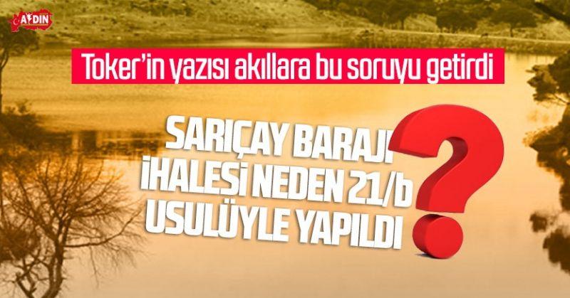 TOKER'İN YAZISI AYDIN'DA AKILLARA BU SORUYU GETİRDİ.!