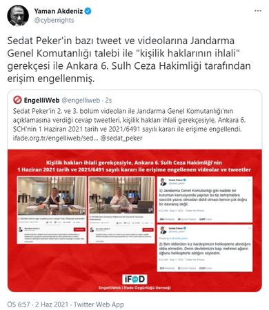 Sedat Peker'in paylaşımlarına erişim engeli getirildi!