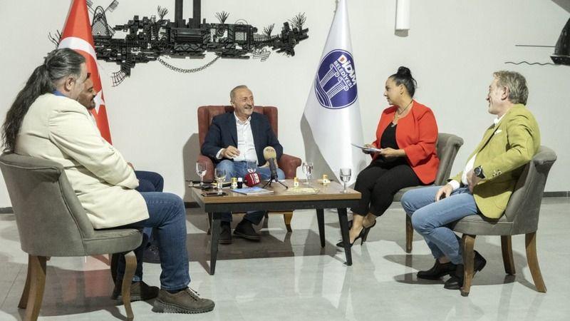 Başkan Atabay gazetecilerin sorularını cevapladı