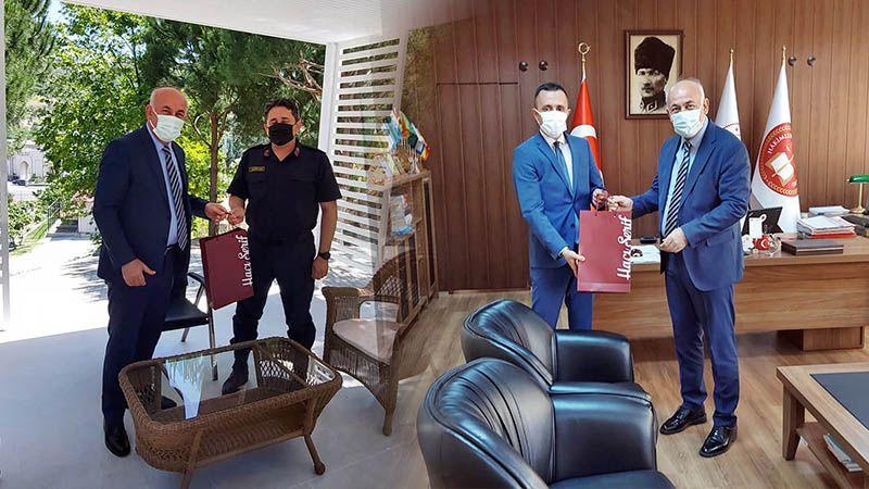 Başkan Tuncel'den Komutan Gökhan Kurgan ve Başsavcı Ali Öztürk'e Teşekkür
