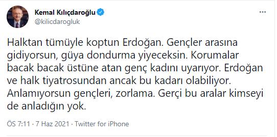 Erdoğan'ın korumasının 'bacak bacak üstüne atan yurttaşı' uyarmasına Kılıçdaroğlu'ndan sert tepki!