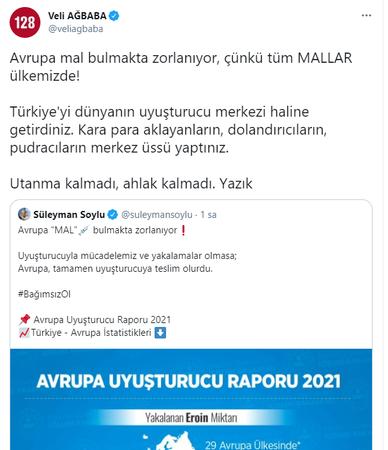 'Mücadelemiz olmasaydı Avrupa, uyuşturucuya teslim olurdu' diyen Soylu'ya CHP'li Ağbaba'dan jet yanıt!