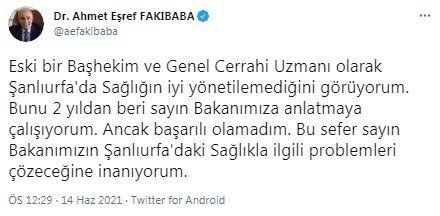 AKP'li vekilden Sağlık Bakanı Fahrettin Koca'ya sitem