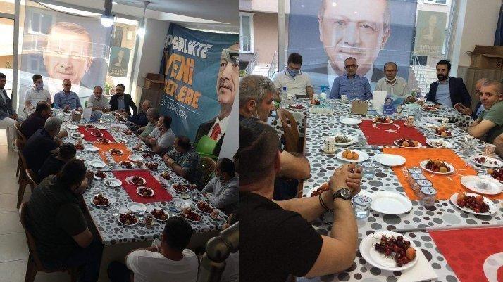 """AKP toplantısında Türk Bayrağına """"bez parçası"""" muamelesi... MHP'liler bu saygısızlığa ne diyecek?"""