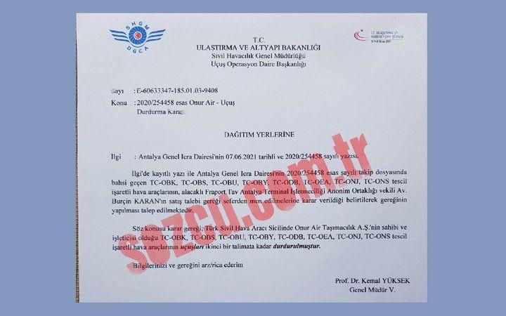 Türkiye'nin en büyük özel havayolu şirketinin tüm uçakları icraya verildi.!