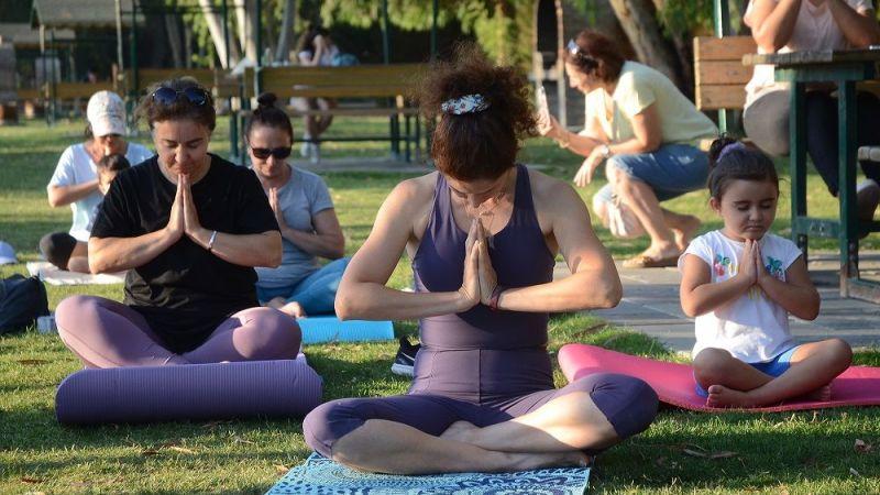 Adagöl'e Dünya yoga günü etkinliği