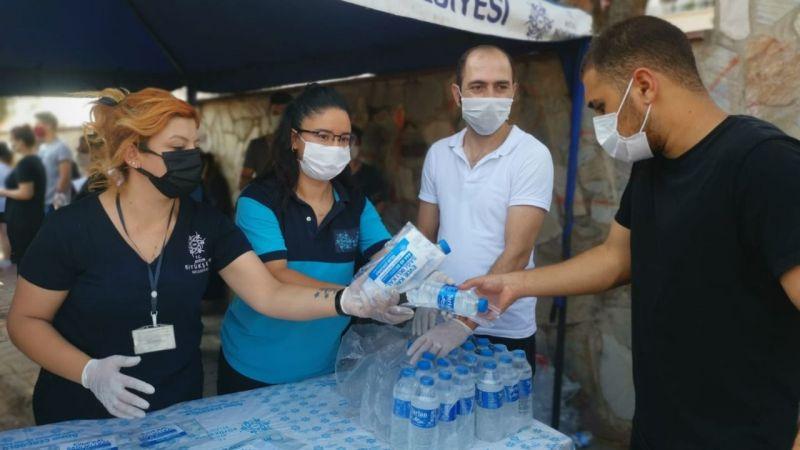 Büyükşehir Belediyesi YKS sınavına giren öğrencilerin yanında