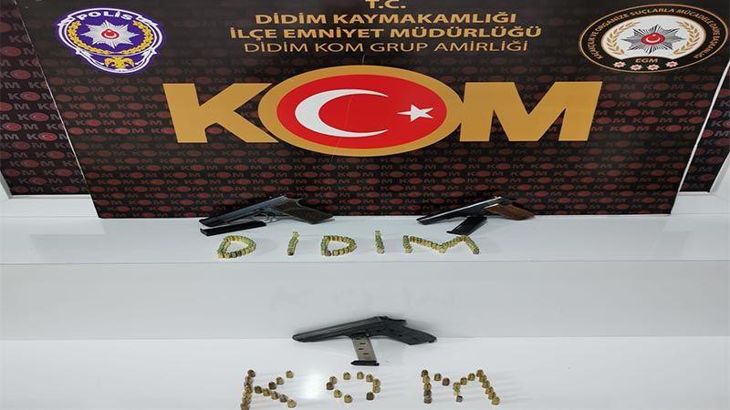 Aydın'da uyuşturucu operasyonu: 1 kişi üç adet silahla yakalandı