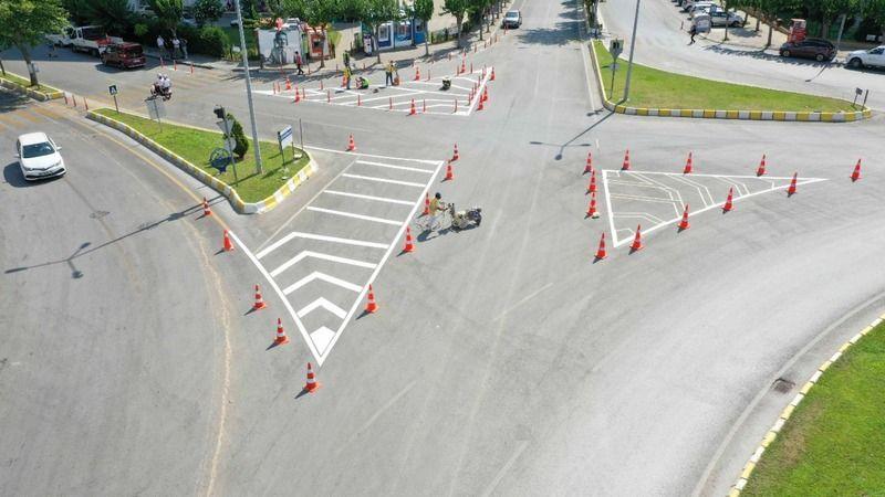 Büyükşehir Belediyesi Trafik Güvenliğini sağlayan hizmetlerini sürdürüyor