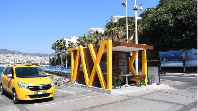 Kuşadası'nda taksi duraklarına modern dokunuş
