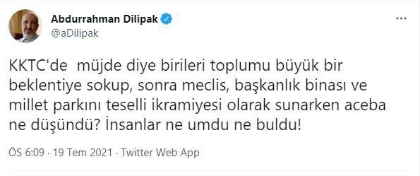 Yeni Akit yazarı Abdurrahman Dilipak'tan Erdoğan'ın 'müjde'sine tepki