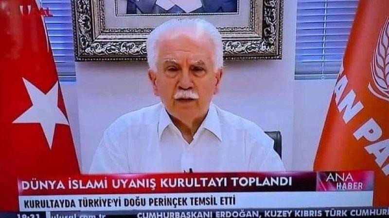 İslami Uyanış Kurultayı'nda Türkiye'yi Doğu Perinçek temsil etti, sosyal medya yıkıldı