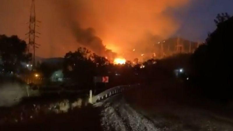 Korkulan oldu! Alevler termik santrale ulaştı