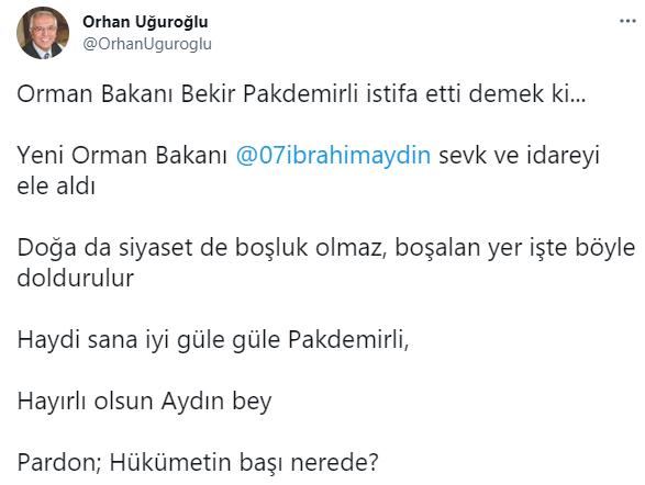 Bekir Pakdemirli gitmeden gözünü koltuğa dikti: AKP'li isim Orman Bakanlığı'na talip oldu!