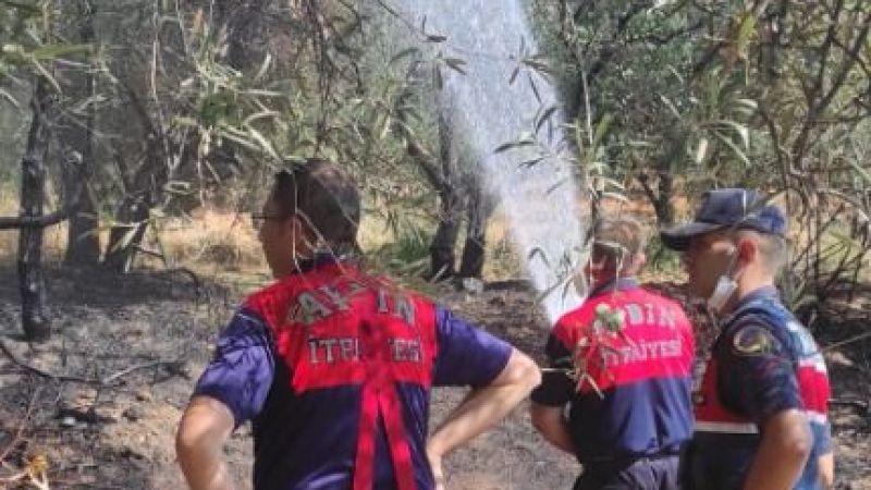 Büyükşehir İtfaiyesi'nden Karacasu'da çıkan yangına hızlı müdahale