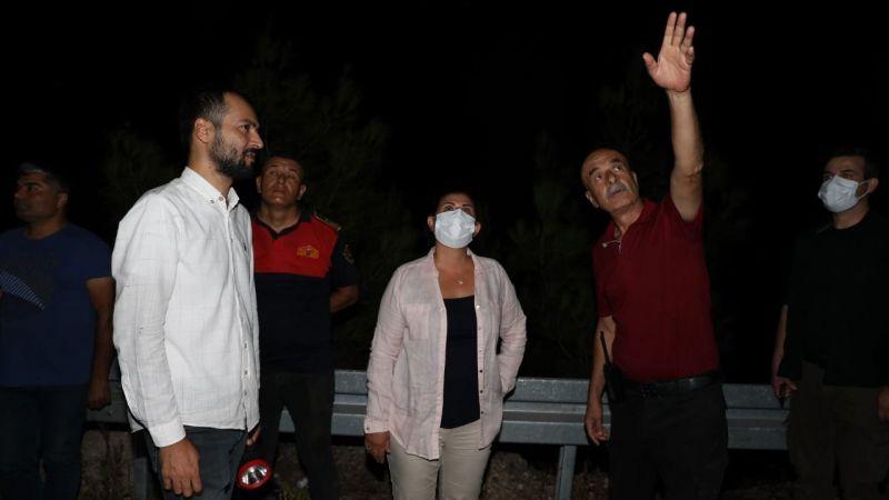 Başkan Çerçioğlu Bozdoğan'da yangın bölgesinde