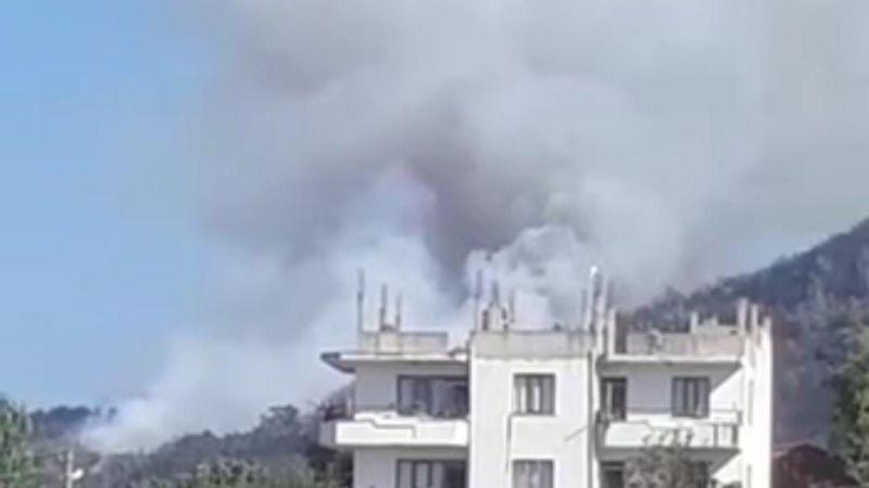 Aydın'da aynı bölgede yine dumanlar yükselmeye başladı