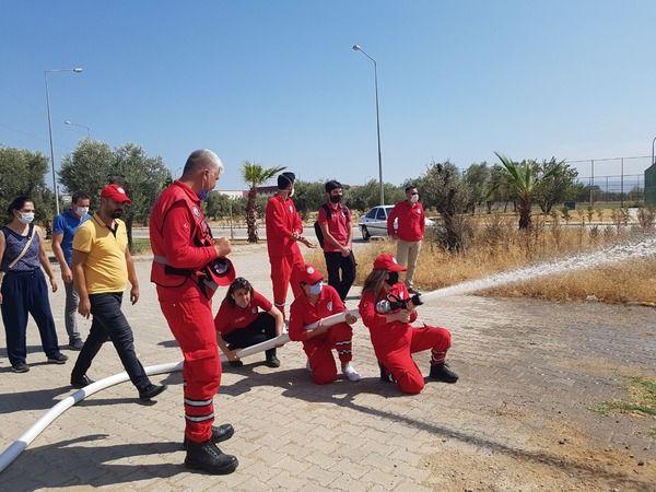 ADÜ Arama-Kurtarma Ekibine Yönelik Yangın Eğitimi ve Tatbikatı gerçekleşti