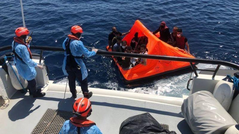 Kuşadası Açıklarında 19 Düzensiz Göçmen Kurtarıldı