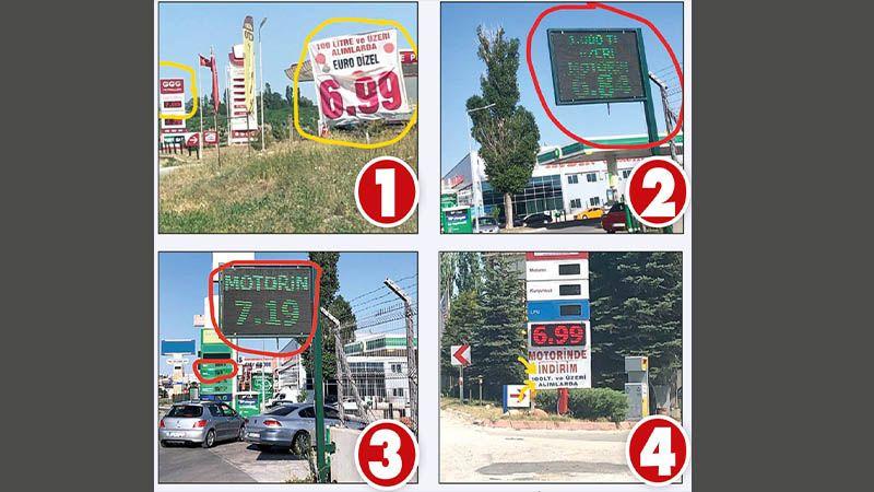 Tabelada 6.84 pompada 7.36! Ucuz motorin diye vatandaşı böyle kandırıyorlar