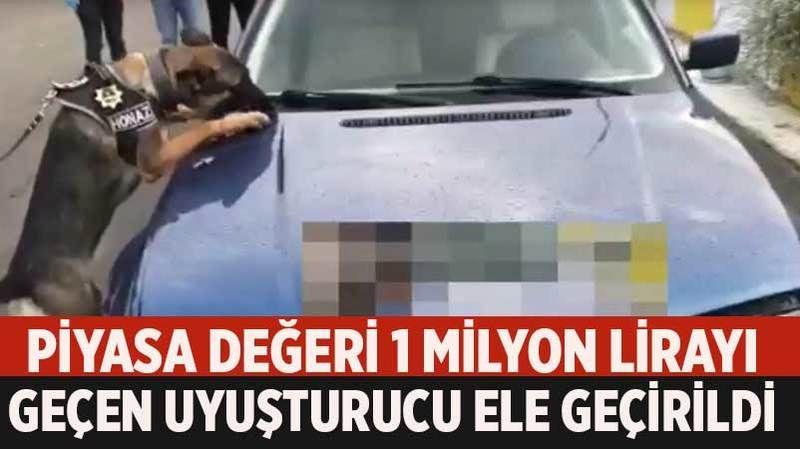 Aydın'da piyasa değeri 1 milyon lirayı geçen uyuşturucu ele geçirildi