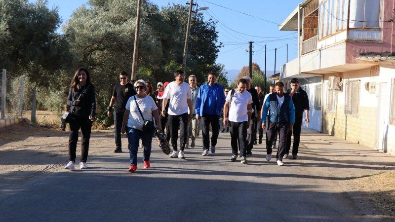 Nazilli'de Avrupa Hareketlilik Haftası kapsamında sağlık için yürüdüler