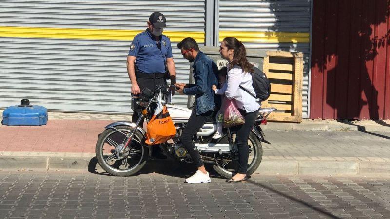 Motosiklet sürücüleri denetimden geçti 315 sürücüye ceza