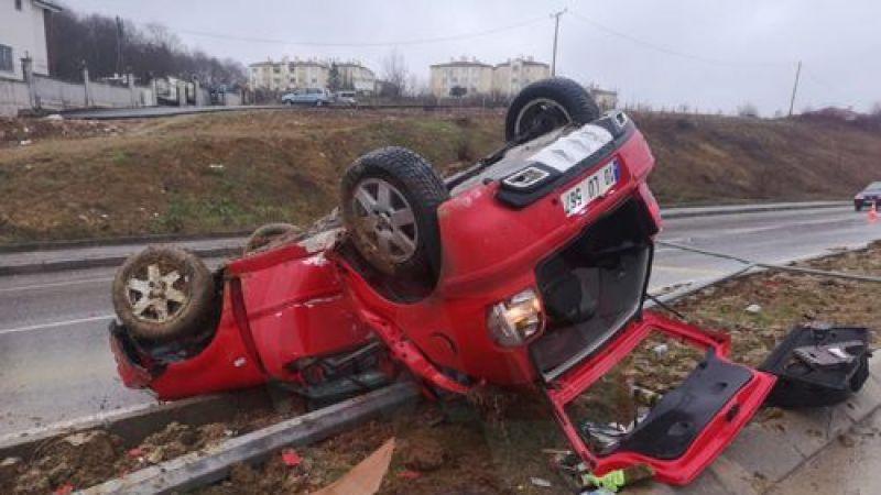 Korucuk yolunda trafik kazası
