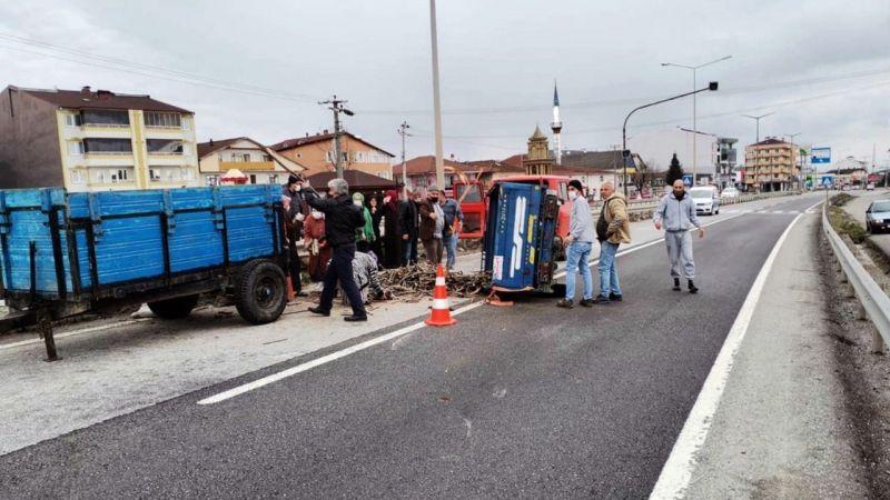 Hendek'te pat pat kazası: 1 yaralı