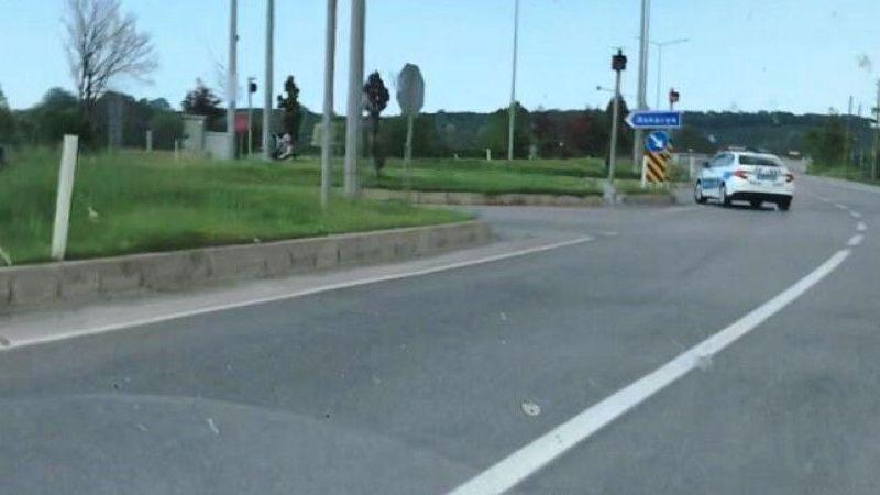 Dur ihtarına uymayan motosiklet sürücüsü kaçtı