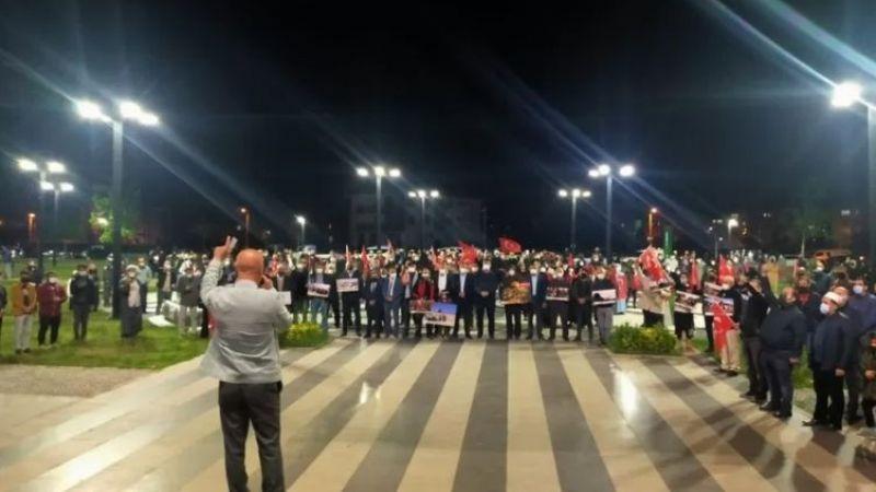 Akyazı'da Filistine destek konvoyu