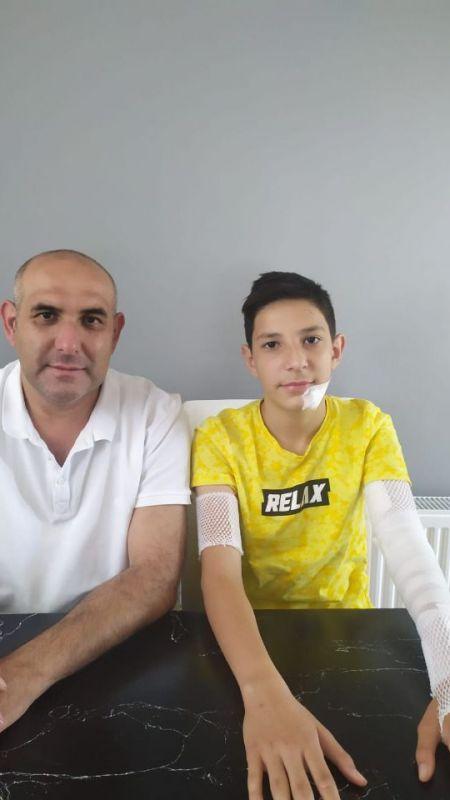 13 yaşındaki çocuğa 70 dikiş atıldı