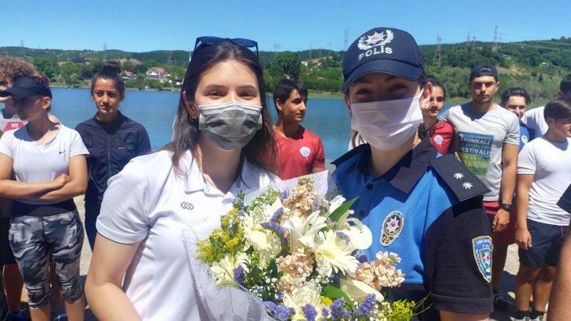 19 Mayıs'ı kanocularla birlikte kutladılar