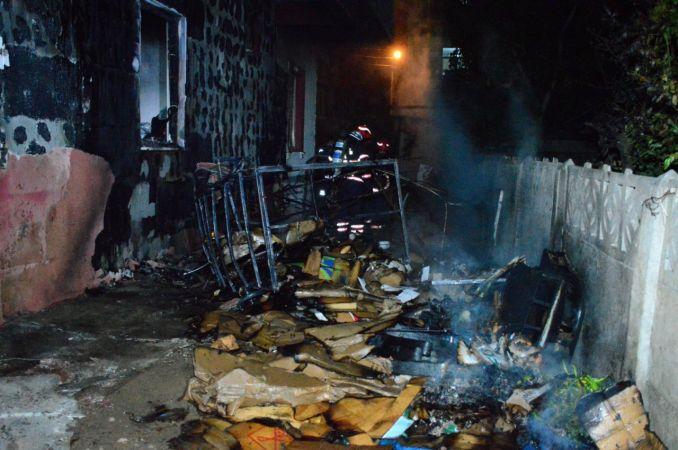 Karasu'da yangın paniği