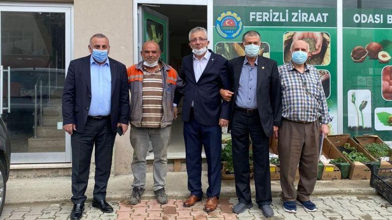 DEVA Partisi Ferizli'de çiftçi ve muhtarlarla görüştü